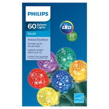 philips 60 sphere lights philips 60ct led faceted sphere string lights multicolored target