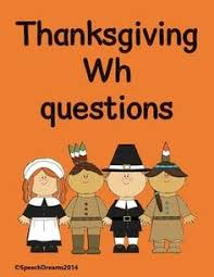 let s talk speech therapy thanksgiving wh questions fall