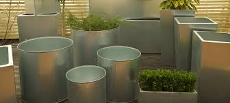 galvanised metal planters bespoke hand made in uk u2013 cedar nursery