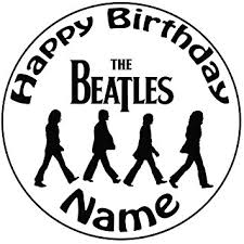 beatles cake toppers personalised the beatles cake topper a pre cut 8 20cm