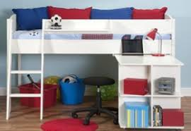 Midi Bed With Desk Stompa Children U0027s Beds Innovative Kids U0027 Bedroom Furniture