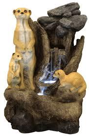 meerkat falls water feature with lights 99 99