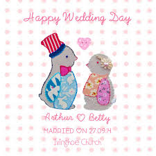 happy wedding day happy wedding day penguin card by buttongirl designs