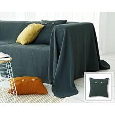 plaid gris pour canapé plaids et jetés de canapé sur 3suisses
