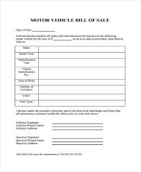 printable vehicle bill of sale 33 bill of sale forms in pdf