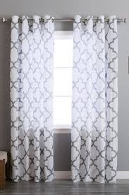 best 25 long window curtains ideas on pinterest kitchen window best home fashion inc velvet reverse moroccan printed grommet curtains set of 2 panels grey