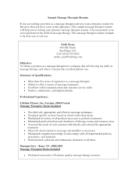 Summary Of Skills Resume Sample Massage Therapist Resume Sample Massage Therapist Resume Sample