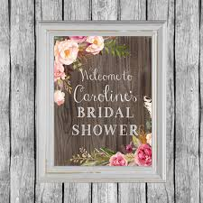 Wedding Shower Decorations by Rustic Bridal Shower Sign Bridal Shower Door Decoration