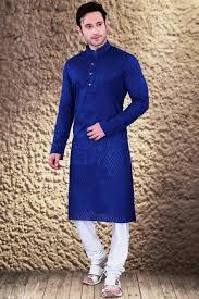 kurta colors blue color mens kurta pyjama in jaqaurd cotton fabric from