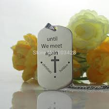 remembrance dog tags custom letter dog tag necklace titanium steel name necklace