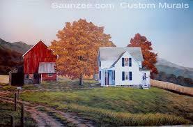 house and barn farm barn house