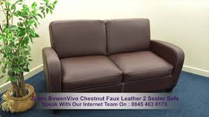 Chestnut Leather Sofa Julian Bowen Vivo Chestnut Faux Leather 2 Seater Sofa Youtube