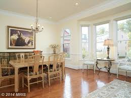 dining room with crown molding u0026 chair rail in potomac md