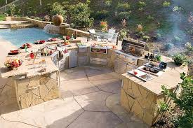 Covered Outdoor Grill Area by Kitchen Contemporary Simple Outdoor Kitchen Patio Kitchen