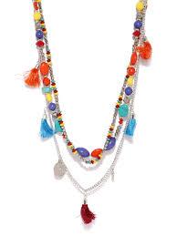 coloured bead necklace images Ayesha boho multi layered multi coloured beaded necklace ayesha jpg