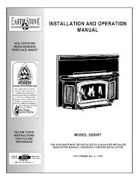 lg earth stove 2800ht user manual 29 pages
