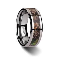 mens camo wedding bands dorado realistic tree camo tungsten carbide wedding band with