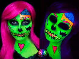 black light pop art zombie with tutorial by katiealves on deviantart