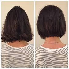 before and after razor bob bob haircut texture textured bob