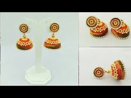 home made earrings how to make silk thread earrings diy simple and beautiful silk