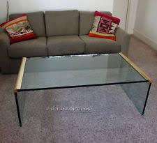 Glass Waterfall Coffee Table Brass Coffee Table Ebay
