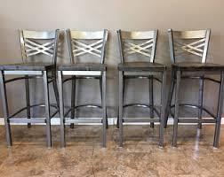 30 Inch Bar Stool With Back Reclaimed Bar Stool Etsy