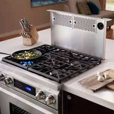 Design Ideas For Gas Cooktop With Downdraft Kitchen Design Dacor Epicure Downdraft Ventilation System And Gas