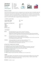 sample resume for retail position related post of part time retail
