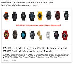 casio g shock watches available at lazada philippines online