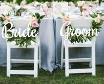 Bride And Groom Chair Signs Wedding Ideas Signs Weddbook