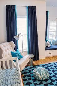 navy nursery curtains design ideas