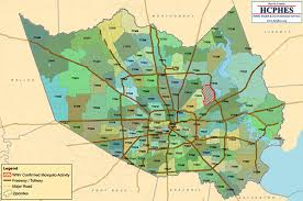 map houston harris county mosquitoes with west nile confirmed in harris montgomery counties