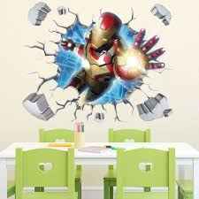 popular floor wallpaper kids buy cheap lots removable kids iron man wall decals for baby room living decor sticker vinyl