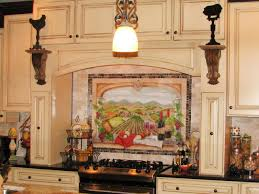 tuscan backsplash tuscan kitchen with tile mural backsplash this backsplash brings