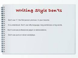 Resume First Person Resume Prepration Resume Writing