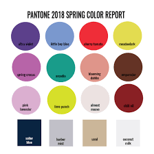 spring color designs in paper pantone 2018 color trends spring report