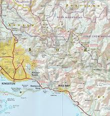 Map Jamaica Wegenkaart Landkaart Adventure Map Jamaica National Geographic