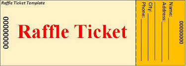 raffle ticket template download page word excel formats