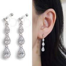 how to make clip on earrings comfortable dangle pink invisible clip on earrings rhinestone clip
