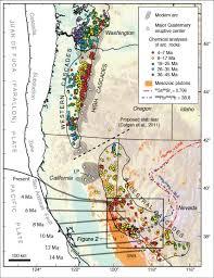 physical map of oregon juan de fuca plate ancestral cascades introduction