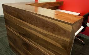 Plywood Reception Desk Custom Walnut Reception Desk Bay Area Custom Furniture