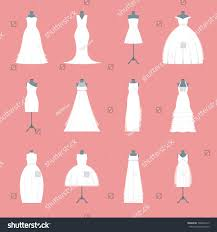 wedding dresses set on mannequin marriage stock vector 704096215