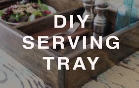 diy how to make a wood serving tray from scratch youtube