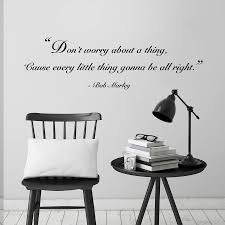 don t worry quote wall sticker by oakdene designs don t worry quote wall sticker