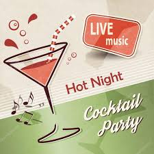 cocktail party background with music banner ad u2014 stock vector