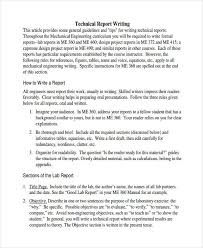 10 report writing examples samples