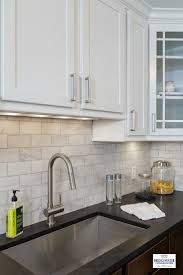 white kitchen cabinets with black granite kitchen decoration
