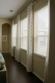 Kitchen Window Covering Ideas Triple Window Treatment Ideas Living Room Pinterest Window
