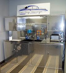 Kitchen Cabinets In Garage Diamond Plate Cabinets