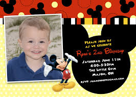 Minnie Mouse Invitation Card Mickey Mouse Birthday Invitations Template Birthday Invitations